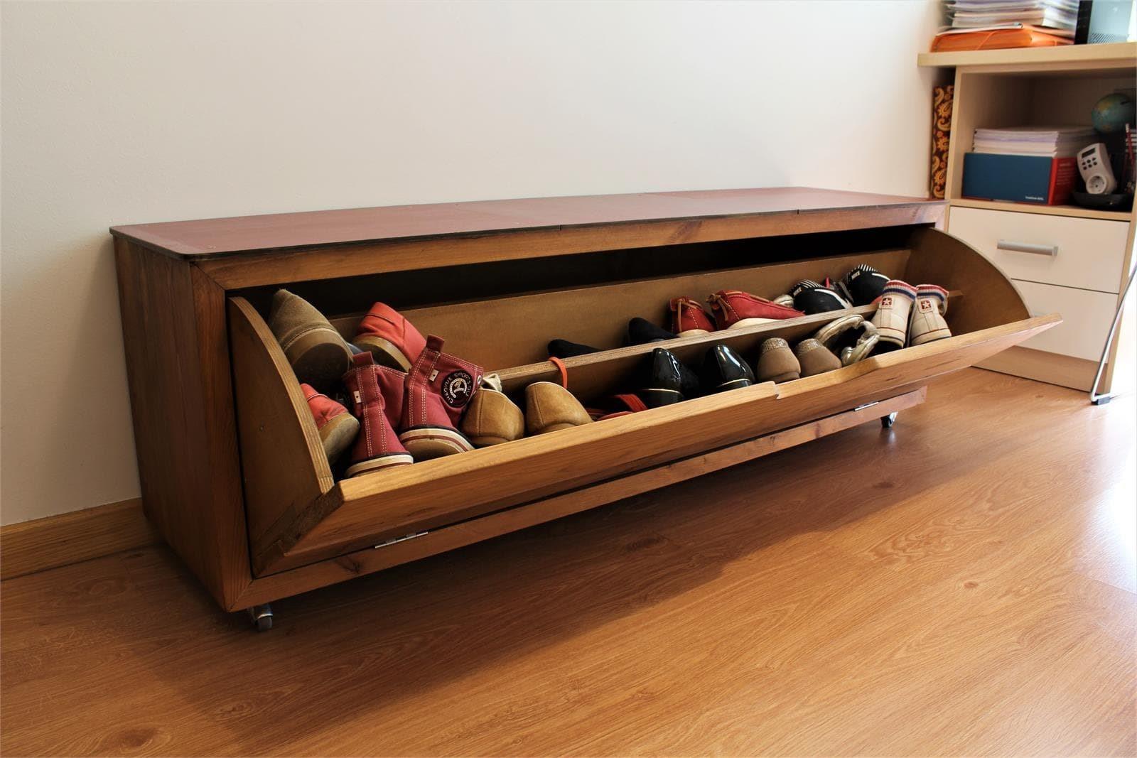 7 mobiliario a medida for Banco zapatero madera